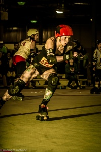 Jammer Bloodlust Barbie is a big part of the Timber Rollers developing offense. (Photo by Joe Mac)
