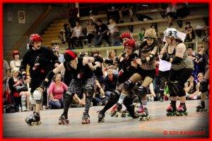 The Slaughter Daughters defeated the Gore-Gore Rollergirls in the 2011 final and are the favourites heading in to the tournament. (Photo by Derek Lang)