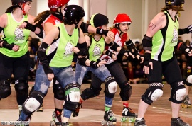 Third-year jammer Santilly In Yo Face is atop the rankings for the first time. (Photo by Neil Gunner)