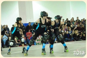 The Betties look to bounce back from  disappointing loss, but will do so without injured blocker Tomy Knockers. (Photo by Derek Lang)