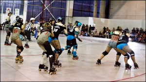 The Betties and Gores battle at The Hangar in 2010.
