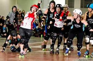 ToRD scoring leader Santilly In Yo Face led another strong offensive performance from the Dolls. (Photo by Neil Gunner)