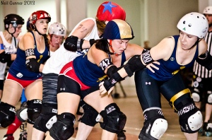 The Bruisers defeated the Montreal Sexpos in August. (Photo by Neil Gunner)