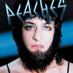 The album cover of Peaches' second album, Fatherfucker (2003).